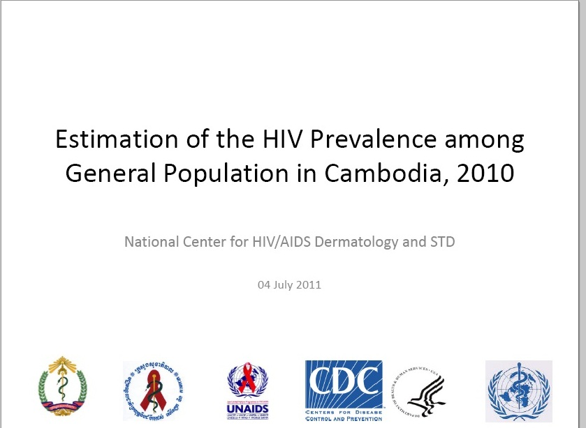 Estimation of the HIV Prevalence among General Population in Cambodia, 2010