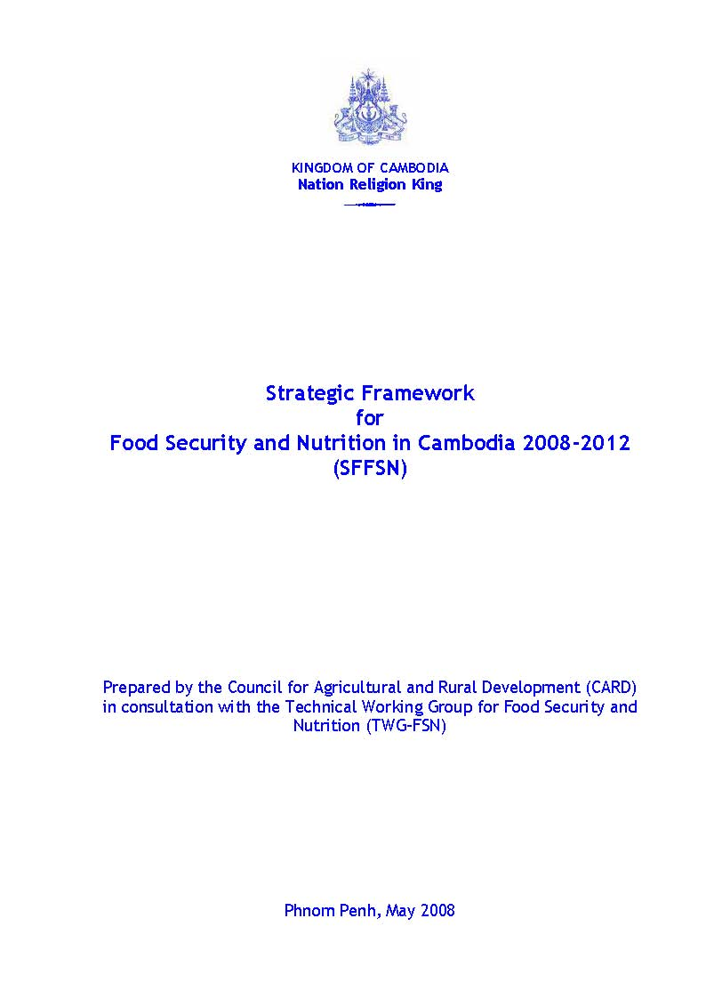 Strategic Framework for Food Security and Nutrition 2008-2012