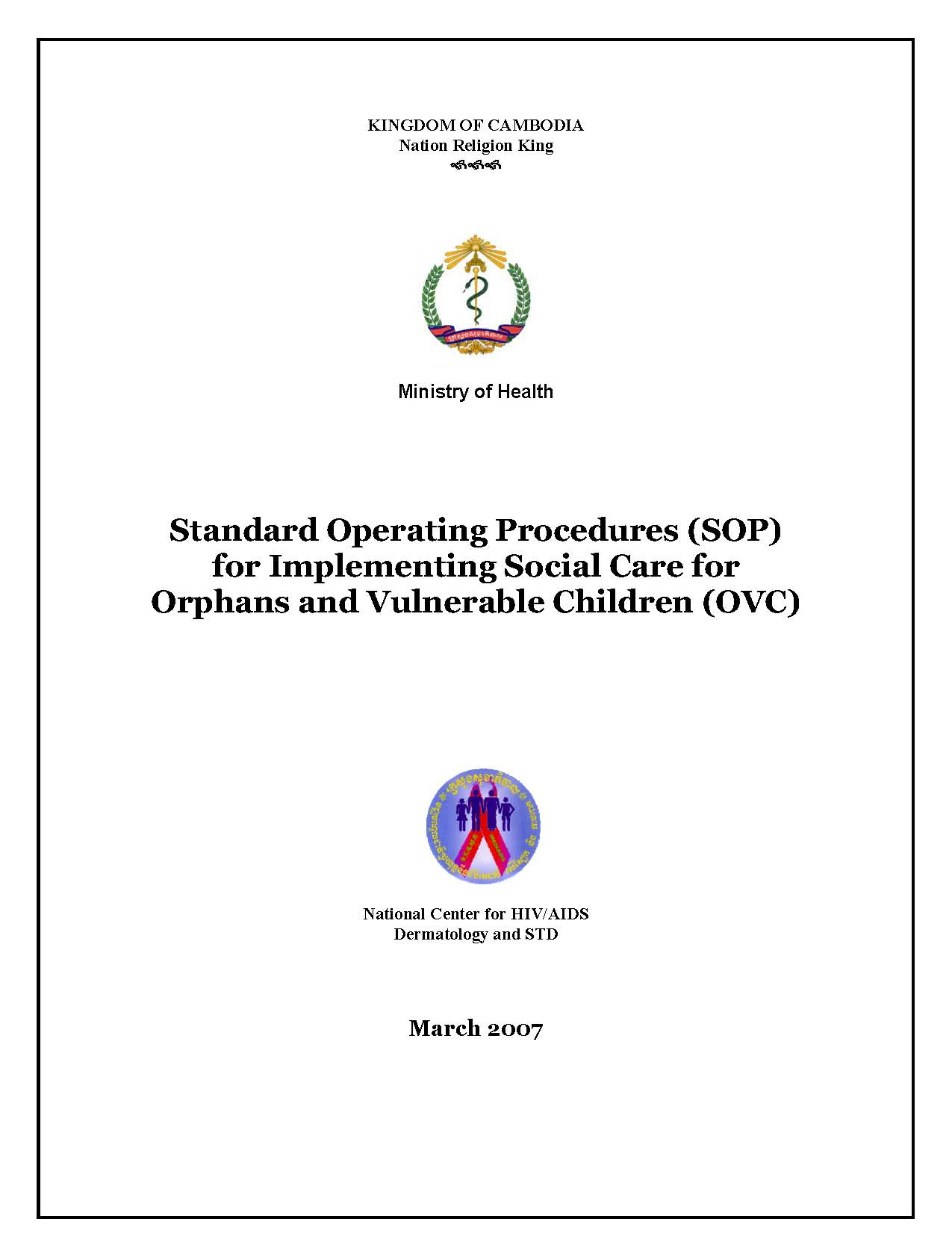 SOP for Implementing Social Care OVC