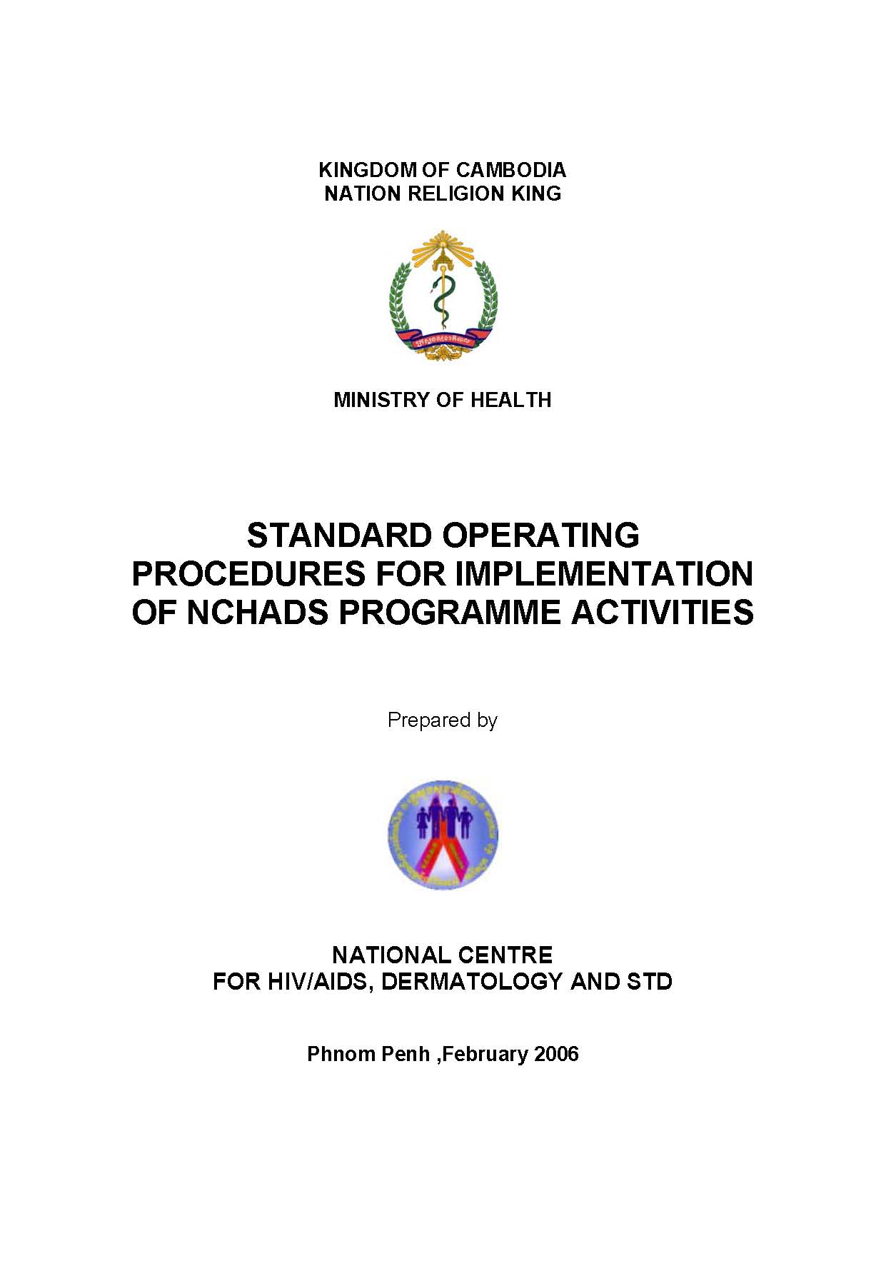 SOP for Implementation of NCHADS Programme Activities