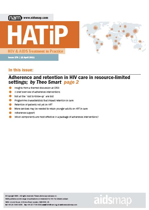 HATIP Newsletter: Adherence and Retention in HIV Care in Resource-Limited Settings